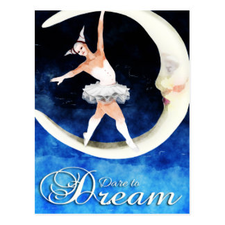 Dare To Dream Gothic Art Postcard