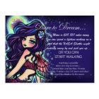 """Dare To Dream"" Inspirational Fantasy Fairy Art Postcard"