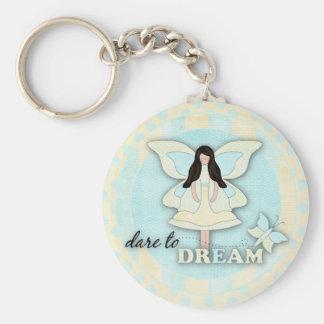 Dare to Dream...Keychain Basic Round Button Keychain