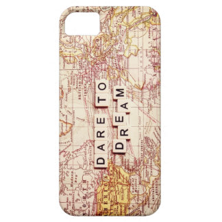 dare to dream map typography case