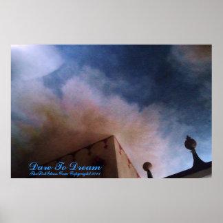 Dare To Dream Sky Mural Poster