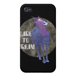Dare to Dream Unicorn gifts iPhone 4 Cover
