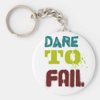 Dare to fail keychain