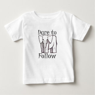 DARE TO FOLLOW logo in Black Baby T-Shirt