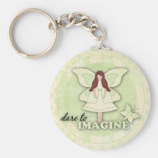 Dare to Imagine...Keychain Basic Round Button Keychain
