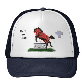 Dare to Leap Faith Horse Hat