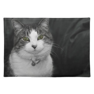 Dare to Look Into My Green Eyes Cloth Placemat