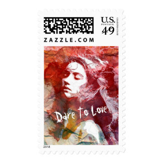 Dare To Love   Art Postage Stamps