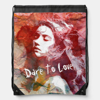 Dare To Love | Drawstring Backpack