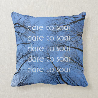 Dare to Soar Quote Pillow