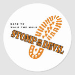 Dare to walk the walk... classic round sticker