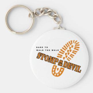 Dare to walk the walk... keychain