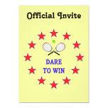 Dare to Win Tennis 5x7 Paper Invitation Card