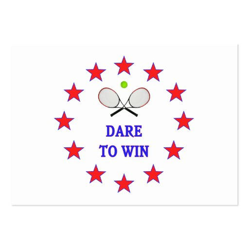 Dare to Win Tennis Large Business Cards (Pack Of 100)