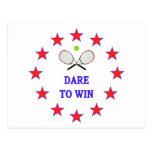 Dare to Win Tennis Postcard