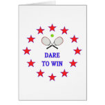 Dare to Win Tennis Stationery Note Card