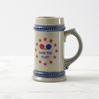 Dare You Play Ping Pong 18 Oz Beer Stein