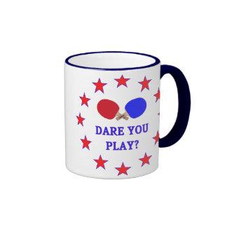Dare You Play Ping Pong Ringer Coffee Mug