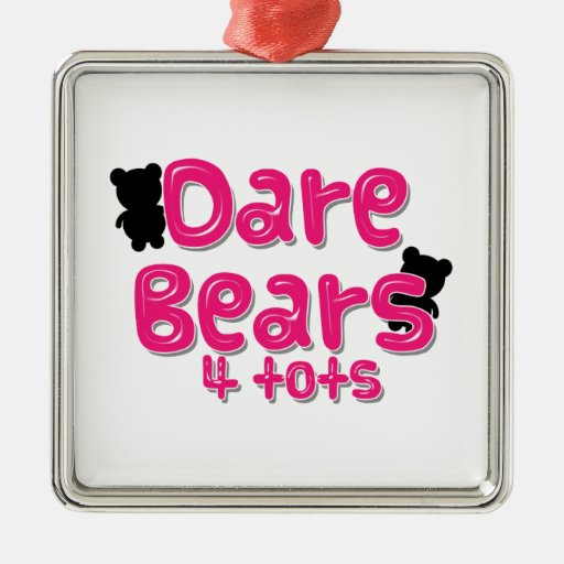 DareBears Products Square Metal Christmas Ornament