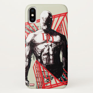 Daredevil Abstract Sketch iPhone X Case
