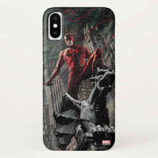 Daredevil Atop A Gargoyle iPhone X Case