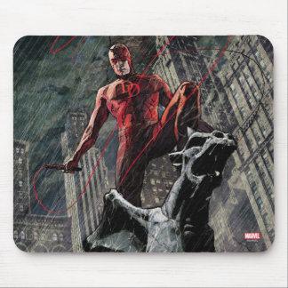 Daredevil Atop A Gargoyle Mouse Pad