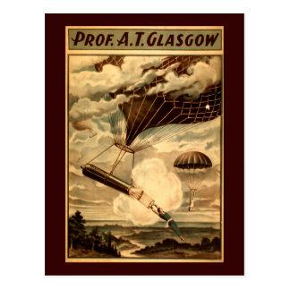 Daredevil Ballooners Postcard