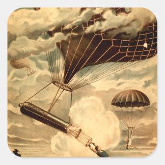 Daredevil Ballooners Square Sticker