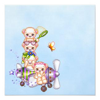 Daredevil Bears Pixel Art Airplane Card