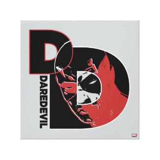 Daredevil Face In Logo Canvas Print