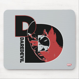 Daredevil Face In Logo Mouse Pad