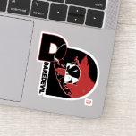 Daredevil Face In Logo Sticker