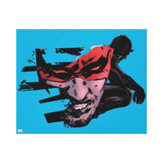 Daredevil Face Silhouette Canvas Print