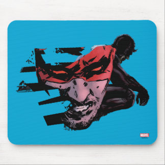 Daredevil Face Silhouette Mouse Pad