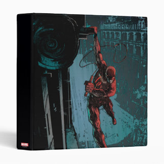 Daredevil Hanging From A Ledge 3 Ring Binder