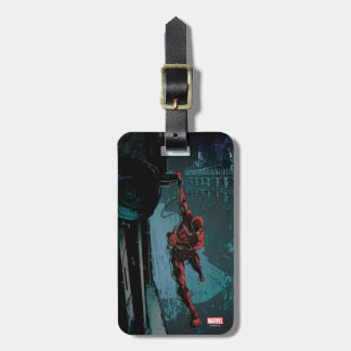 Daredevil Hanging From A Ledge Bag Tag