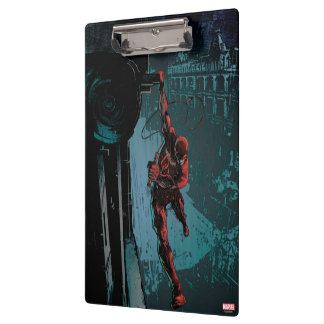 Daredevil Hanging From A Ledge Clipboard