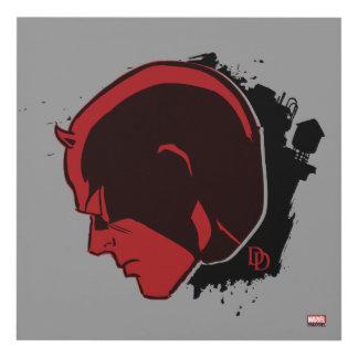 Daredevil Head Profile Panel Wall Art