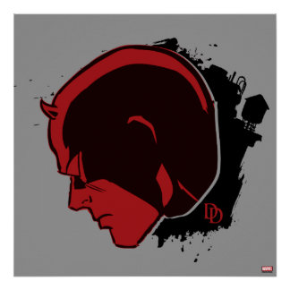 Daredevil Head Profile Poster