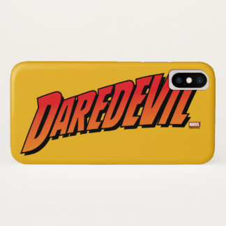 Daredevil Name Logo iPhone X Case