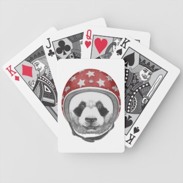 Daredevil Panda Bicycle Playing Cards