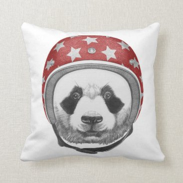 Daredevil Panda Throw Pillow