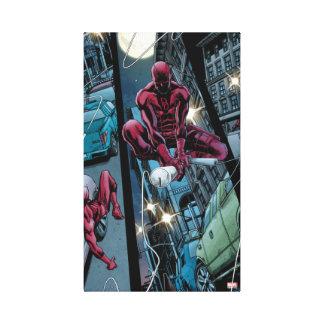 Daredevil Running Through The City Canvas Print