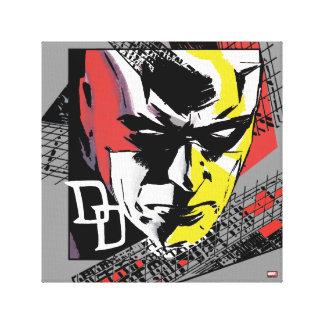 Daredevil Tri-Color Scaffolding Graphic Canvas Print