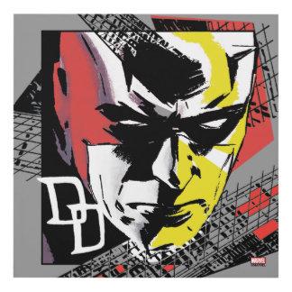 Daredevil Tri-Color Scaffolding Graphic Panel Wall Art