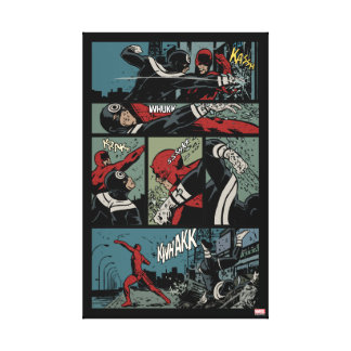 Daredevil Versus Bullseye Canvas Print