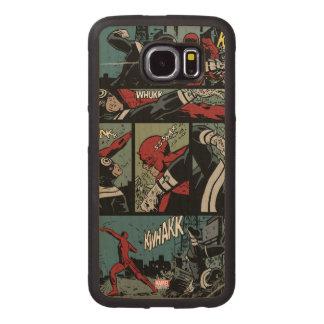 Daredevil Versus Bullseye Wood Phone Case