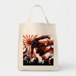 Daredevil Versus Ninjas Tote Bag