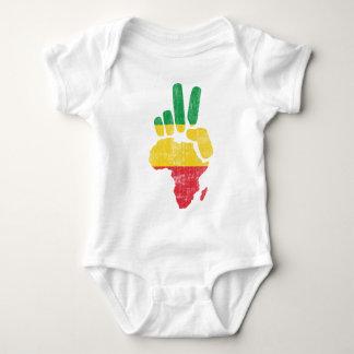 darfur africa peace hand baby bodysuit