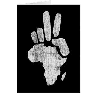 darfur africa peace hand card